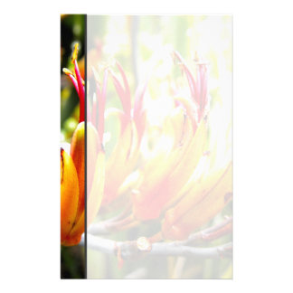 Flowering New Zealand Flax Stationery Design