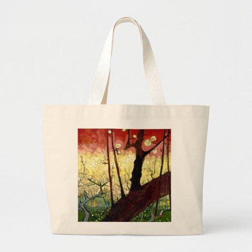 Flowering Plum Tree after Hiroshige by Van Gogh Canvas Bag