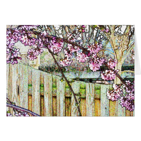 Flowering Plum Tree Branch Card