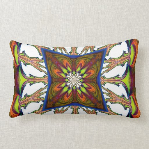 Flowering Trees Abstract American MoJo Pillow