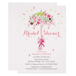 Flowering Umbrella Bridal Shower Invitation