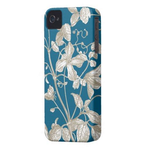 Flowering Vine Botanical iPhone 4 Case-Mate Case