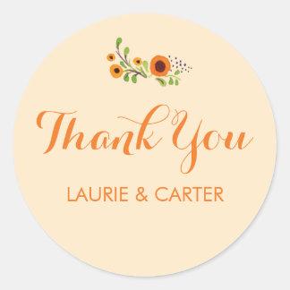 Flowering Vine Wedding Sticker Template