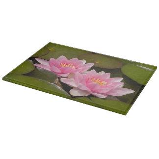 Flowering water lilies cutting board