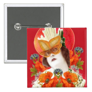 flowerLadyMangoHead II Pinback Button