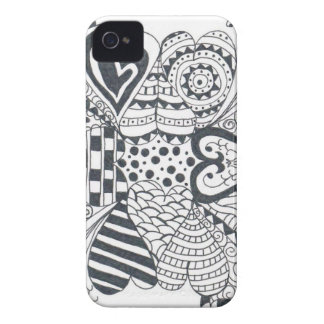 FlowerofHearts iPhone 4 Cases
