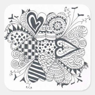 FlowerofHearts Square Sticker
