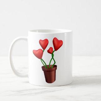 Flowerpot Hearts Coffee Mug