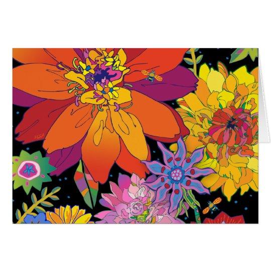 'FlowerRiot' Card