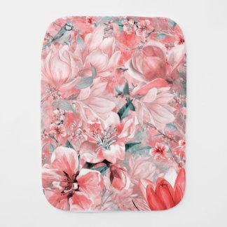 flowers2bflowers and birds pattern #flowers burp cloth