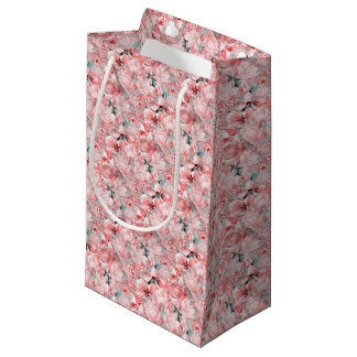 flowers2bflowers and birds pattern #flowers small gift bag