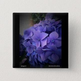 Flowers 15 Cm Square Badge