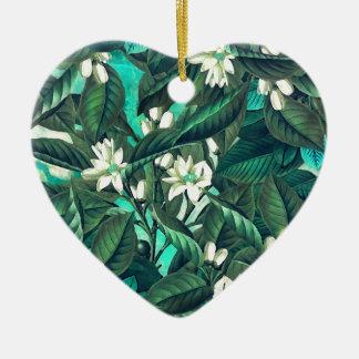 flowers 16 ceramic heart decoration