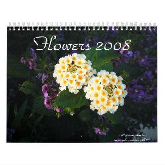 Flowers 2008 wall calendar