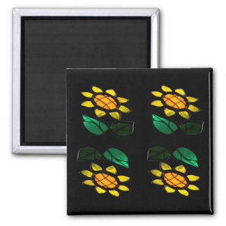 Flowers 2 - Stained Glass - Magnet