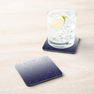 flowers 3d-print on white blue background vector drink coaster
