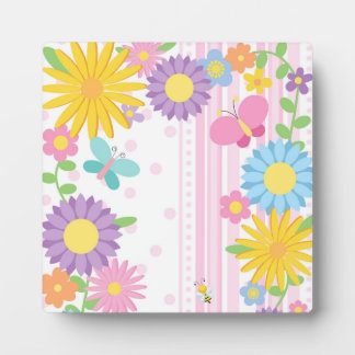 Flowers 5.25 x 5.25 Easel Display Plaques