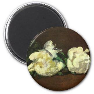 Flowers 6 Cm Round Magnet
