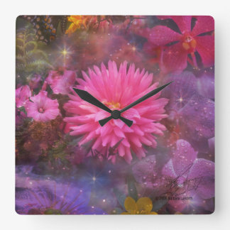 Flowers - A Visual Bouquet for Mom Square Wall Clock