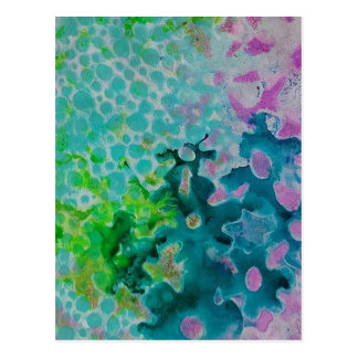 Flowers Abstract Postcard
