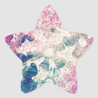 Flowers Abstract Star Sticker
