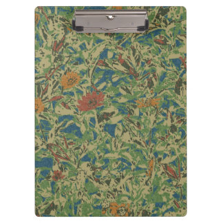 Flowers against leaf camouflage pattern clipboards