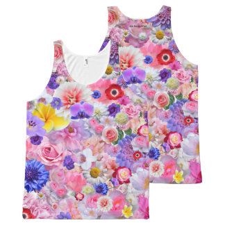 Flowers All-Over Print Singlet
