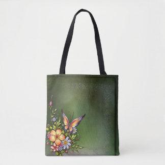 %Flowers All-Over-Print Tote Bag, Medium