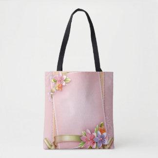 #Flowers All-Over-Print Tote Bag, Medium