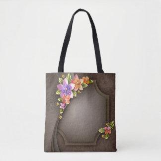 Flowers All-Over-Print Tote Bag, Medium