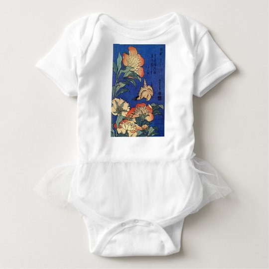 Flowers and a Bird Baby Bodysuit