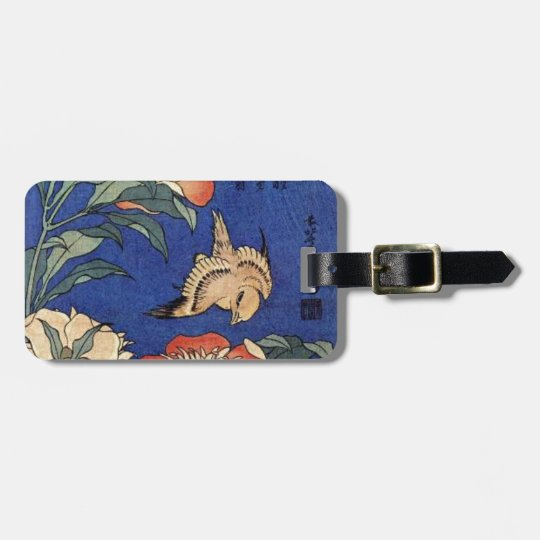 Flowers and a Bird Bag Tag