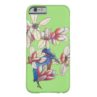 flowers and a bird barely there iPhone 6 case
