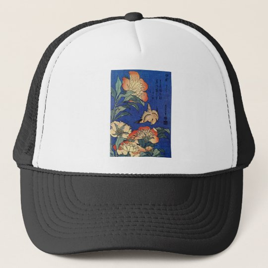 Flowers and a Bird Cap