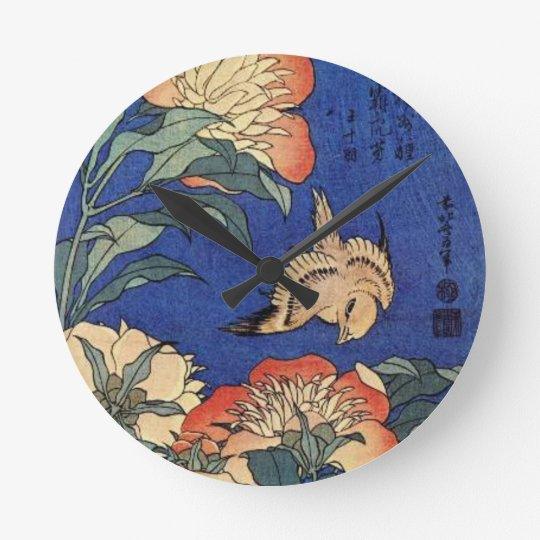 Flowers and a Bird Clock