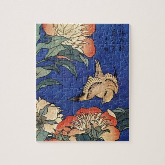 Flowers and a Bird Jigsaw Puzzle