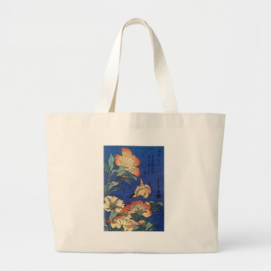 Flowers and a Bird Large Tote Bag