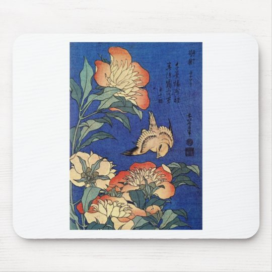 Flowers and a Bird Mouse Pad