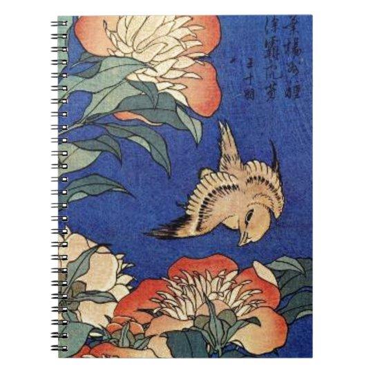 Flowers and a Bird Notebook