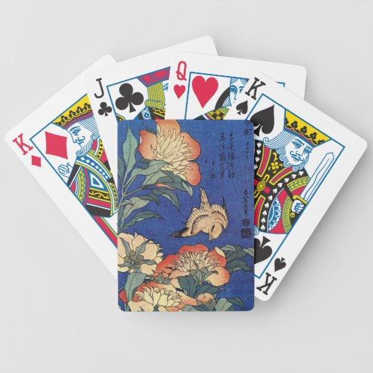 Flowers and a Bird Poker Deck