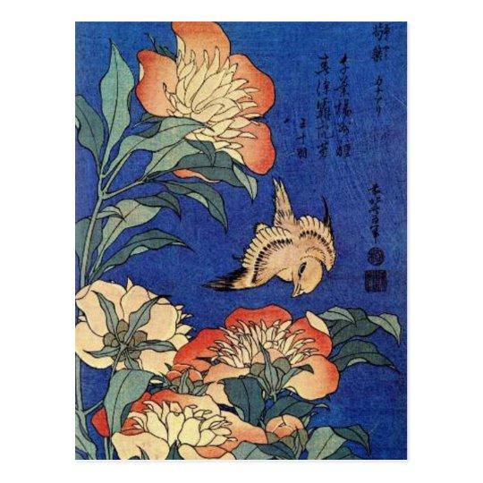 Flowers and a Bird Postcard