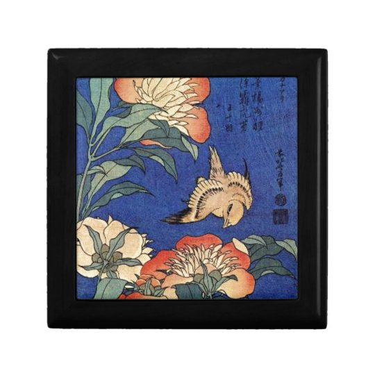 Flowers and a Bird Small Square Gift Box