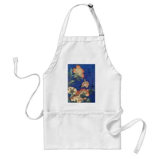 Flowers and a Bird Standard Apron