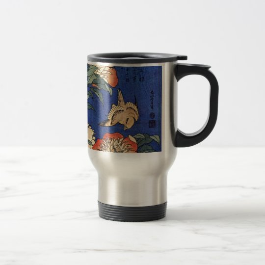 Flowers and a Bird Travel Mug