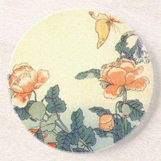 Flowers and a Butterfly Coaster