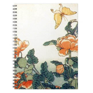 Flowers and a Butterfly Notebook