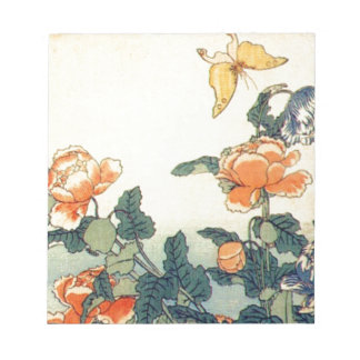 Flowers and a Butterfly Notepad