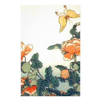 Flowers and a Butterfly Stationery