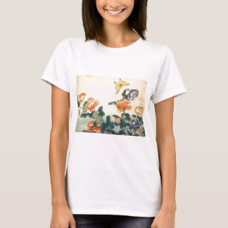 Flowers and a Butterfly T-Shirt