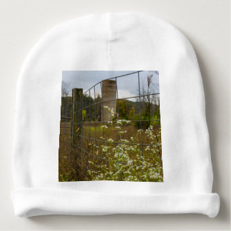 Flowers And A Silo Baby Beanie